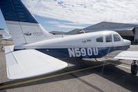 The Ohio University Flying Team's airplane sits at The Gordon K. Bush Ohio University Airport on September 28 2016.