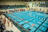 Ohio hosted Duquesne and Xavier in a duel meet on Saturday, January 21 at the Ohio University Aquatic Center. The Bobcats beat Duquesne 177-78 and Xavier 160-97.