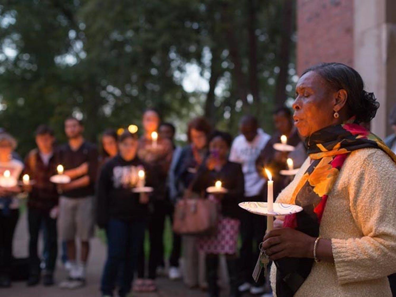 Vigil for Kenya brings OU community together