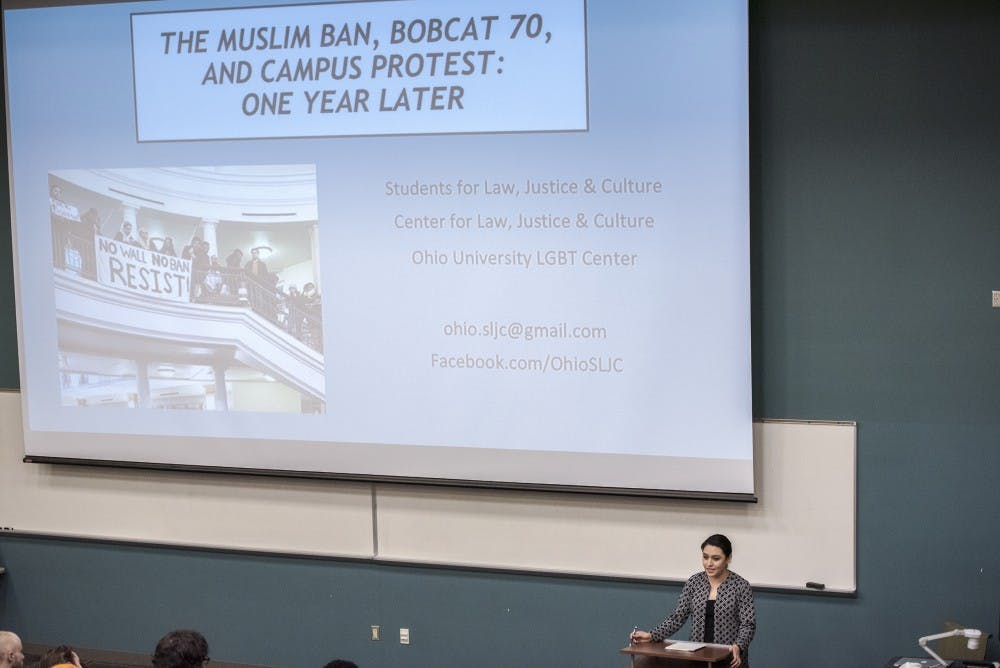 Student activists speak out against the university at Baker 70 panel