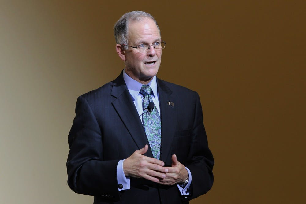 North Dakota State University President discusses athletic funding, addresses email scandal during second presidential forum