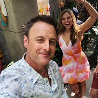 Hannah B. makes an appearance in Paradise on Monday's episode of 'Bachelor in Paradise.' (Photo via @chrisbharrison on Instagram)