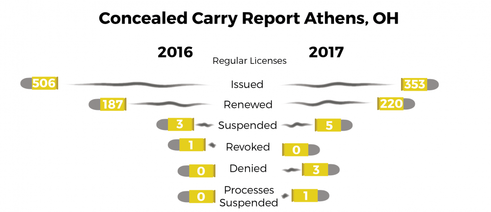 Fewer people obtained concealed carry licenses in 2017
