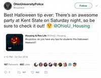 The Athens Halloween Block Party was Saturday, and people took to Twitter to talk about it. (Screenshot via Georgia Davis)