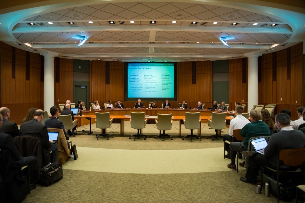 Board of Trustees discusses construction of a 400-bed residence hall