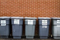 As International Earth Day approaches Ohio University's interest in Recyling is being examined. There are several different recycling bins outside of different dorms, all organized by different types of materials. (ARIELLE BERGER   FOR THE POST)