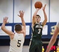 Brody ball (3) hits a jump shot against Wellston High School on January 13th, 2016 STAFF PHOTOGRAPHER|MATT STARKEY