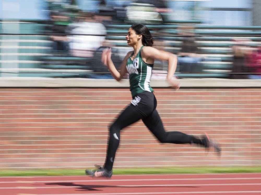Ohio's Atiya Spaulding runs in 200m dash at Ohio Track and Field's Cherry Blossom Invitational on April 7, 2018. (FILE)
