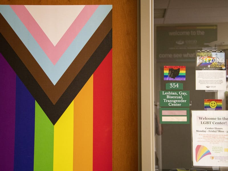 The LGBT center located on the third floor of Baker University Center in Athens, Ohio.