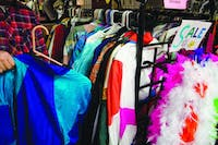 Athens Underground, located at the end of Court Street, sells an incredible collection of vintage clothing and accessories that can be used as Halloween costumes. October 20, 2014.