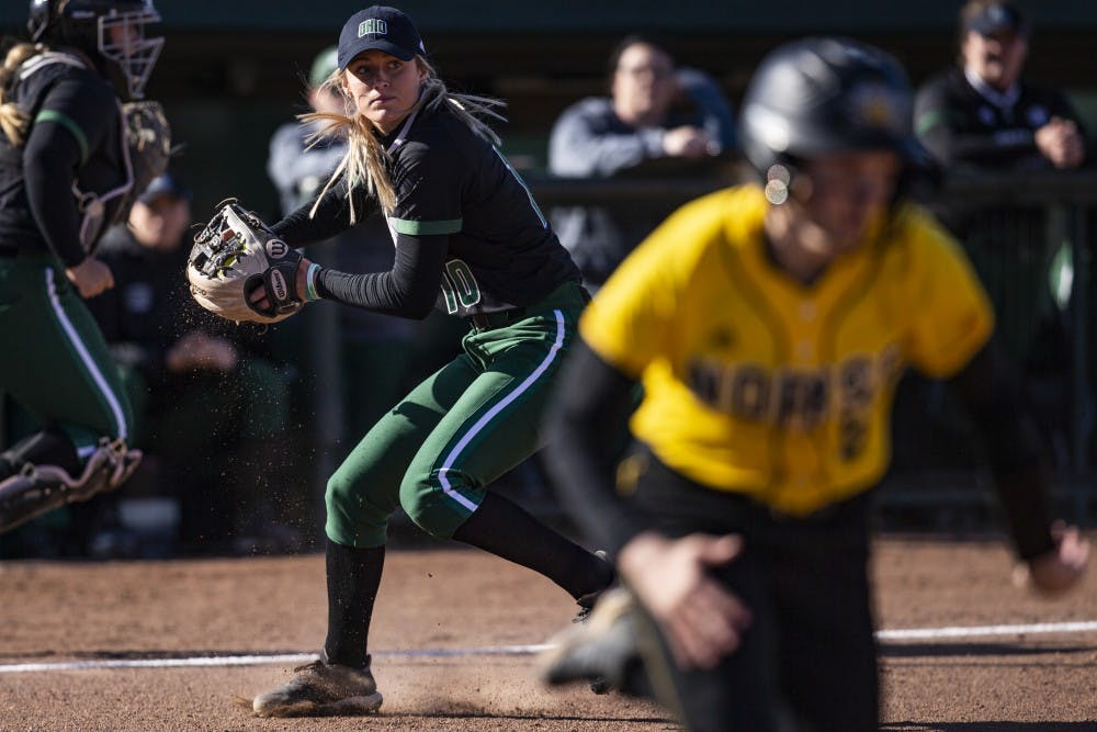 Softball: Ohio bounces back with series sweep of Akron