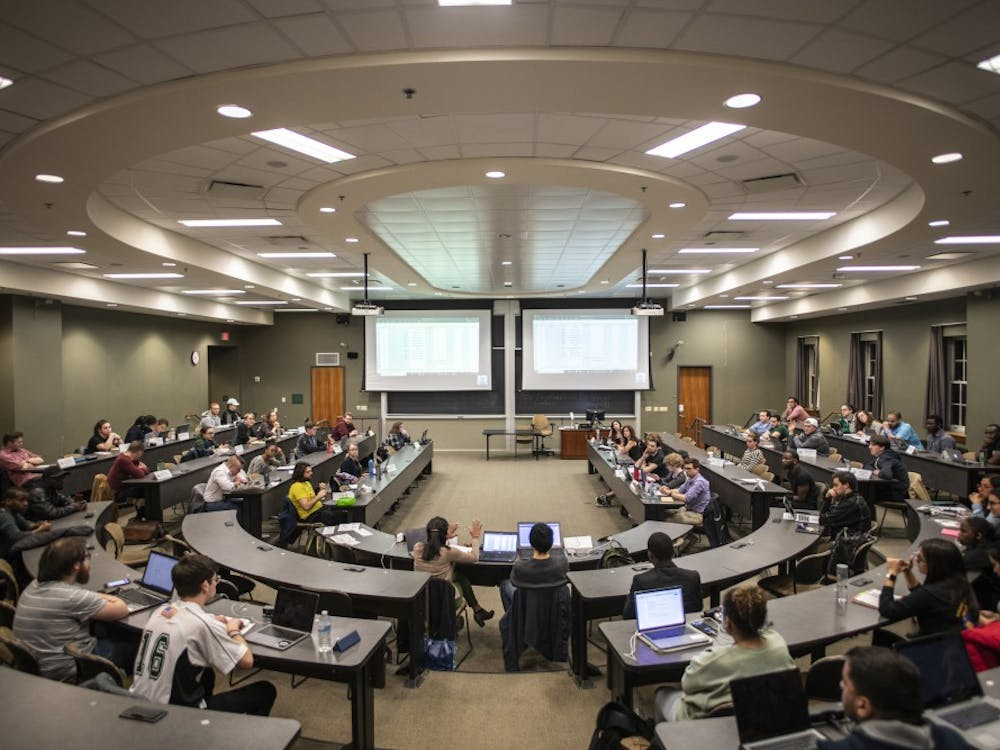 The Graduate Student Senate discusses elections at Walter Hall on Tuesday, April 2, 2019. (FILE)