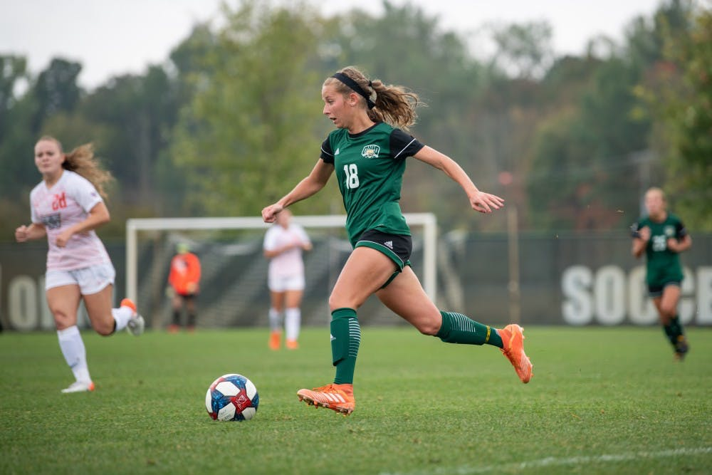 Soccer: Sydney Leckie's late goal secures Ohio victory over Eastern Michigan