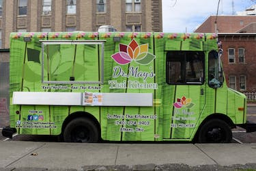 Dr. May's Thai Kitchen Food Truck  parked on Union Street on March 26, 2018.