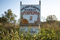A welcoming sign outside of Sharp Farms located in Sugar Grove, Ohio which started its pumpkin season September 21, 2019.