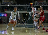 Ohio guard CeCe Hooks (No. 1) drives to the basket against Ball State University on Jan. 18, 2020 in the Convocation Center.