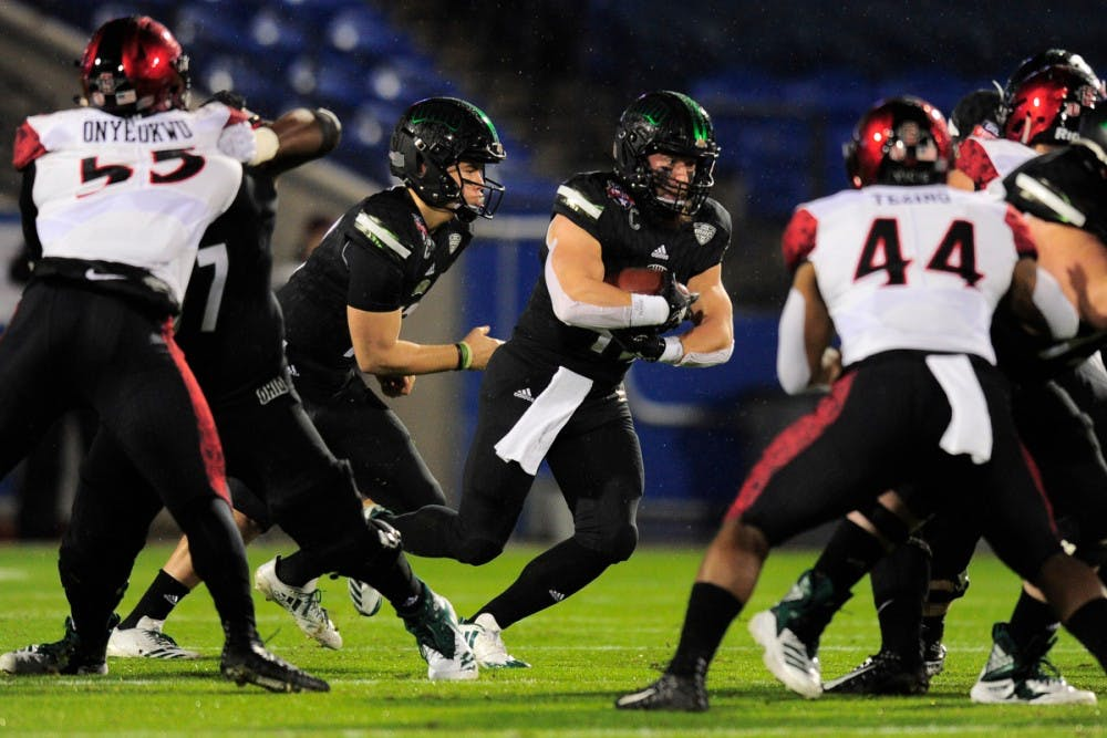 Football: A.J. Ouellette puts on one final show in 27-0 Frisco Bowl win over SDSU