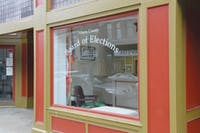 The window of the Athens County Board of Elections office, 15 S. Court St. (FILE)