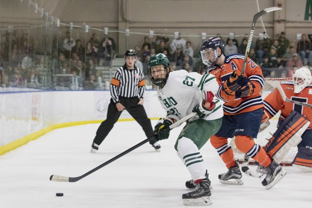 Hockey: Ohio gives up five second-period goals in 5-4 loss to Illinois in CSCHL semifinals