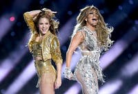 Shakira and Jennifer Lopez paid homage to their Latin roots with their Super Bowl 2020 halftime performance. (Photo provided via @FOX46News on Twitter)