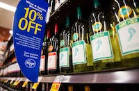 Wine sits in an isle at the Kroger located on East State Street in Athens, Ohio, on Monday, January 19, 2015.