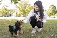Ohio University student with her companion animal. (FILE)