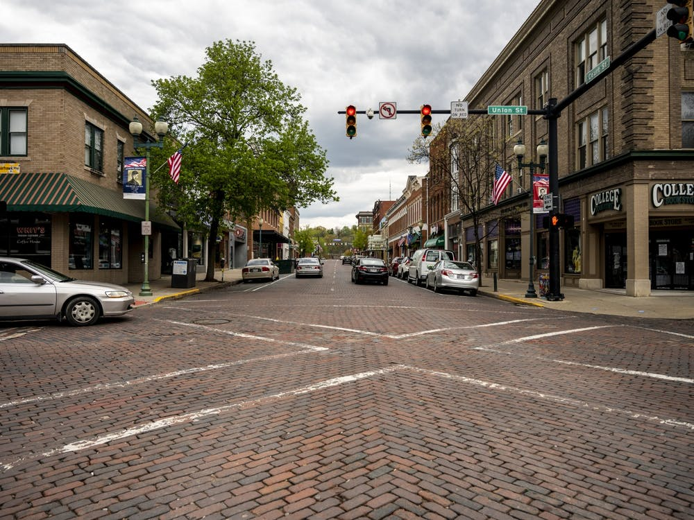 Court Street in Athens, Ohio