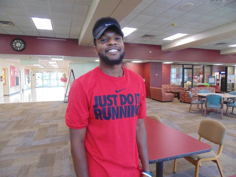 Eric Lacy, junior business management major, for ink of the week.