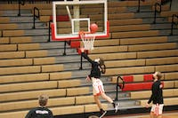 Otterbein men's basketball warms up before game