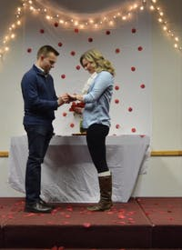 Allison Wheeler proposal with Adam Sullivan