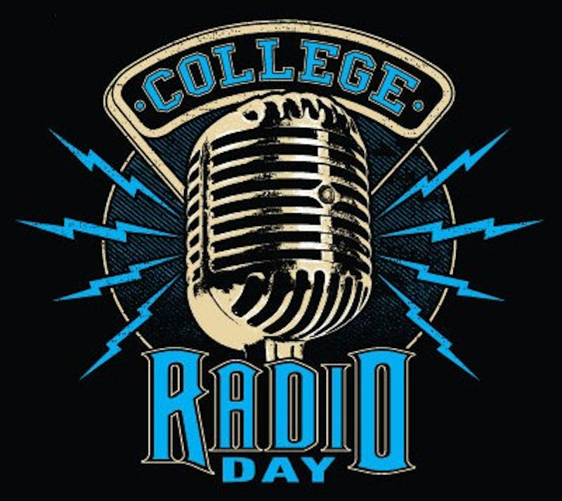 6th annual College Radio Day logo in blue