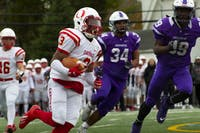 Otterbein's offensive line and ball carriers teamed up for 199 rushing yards and four touchdowns in their team's 33-18 win at Capital.