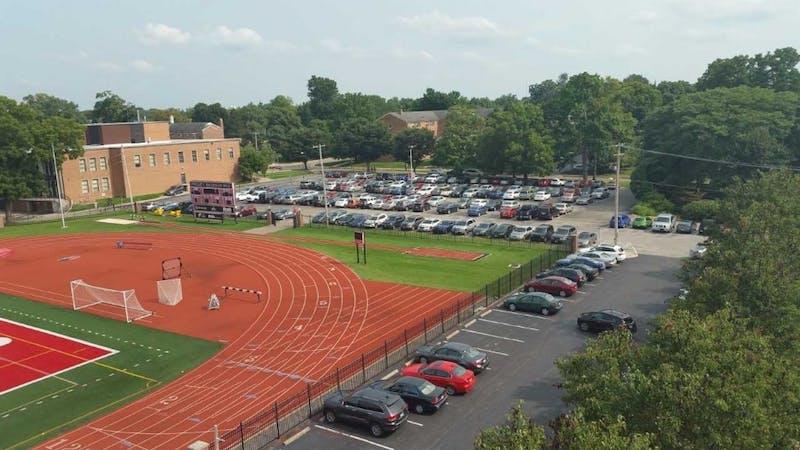 Campus center west parking lot