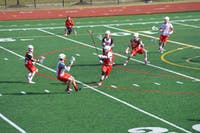 Otterbein lacrosse team practices for their first game of the season.
