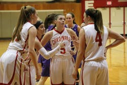 Womens Basketball team takes the lead in Saturdays Game against Capital University.