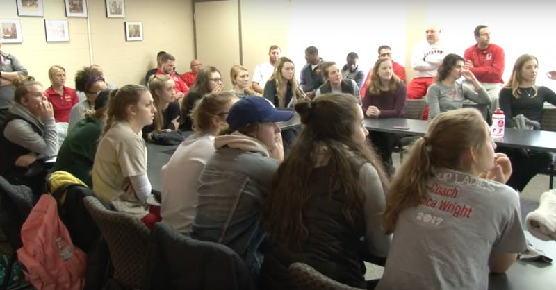 Volleyball team finds out they are hosting tournaments