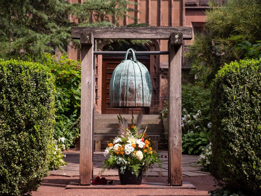 <h5>The Remembrance Bell at the entrance of the 9/11 Memorial Garden.</h5> <h6>Candace Do / The Daily Princetonian</h6>