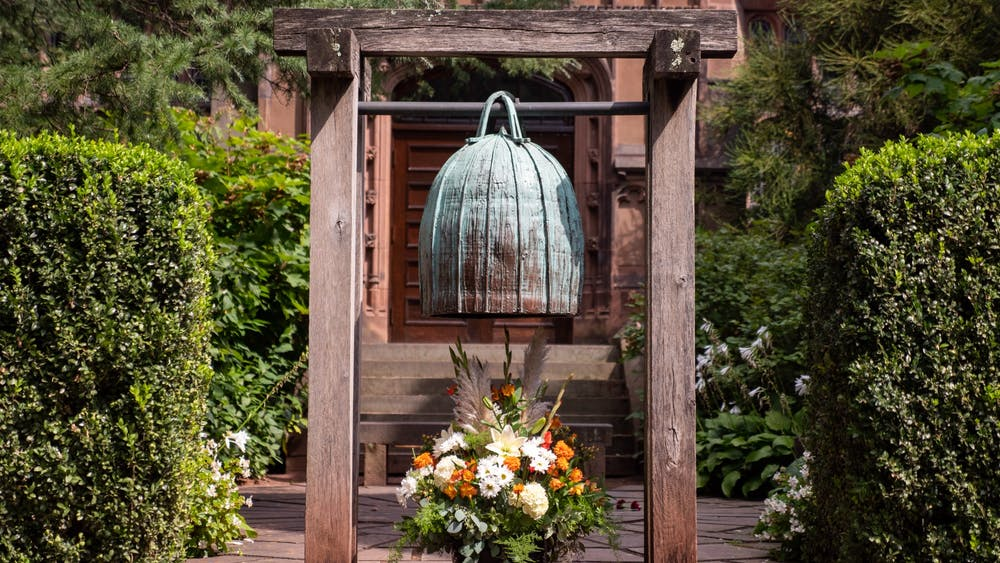 The Remembrance Bell at the entrance of the 9/11 Memorial Garden. Candace Do / The Daily Princetonian