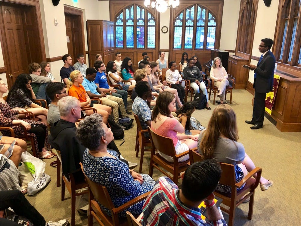 University community members attended a vigil at Murray-Dodge Hall on Tuesday, April 23, in honor of the victims who died in the bombings in Sri Lanka on Easter Sunday.  Courtesy of the Princeton Office of Religious Life