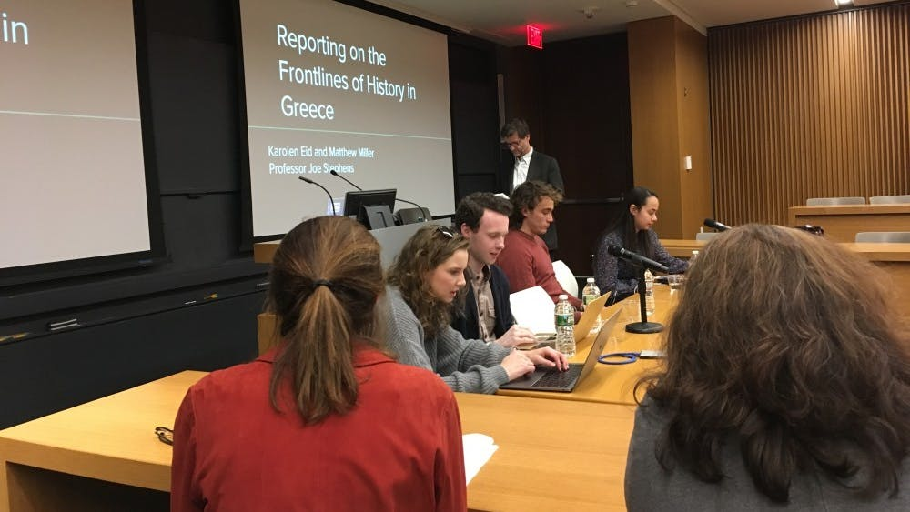 Student journalist panel reflects on refugee reporting in Greece, Canada  Mina Lee  '21 / The Daily Princetonian