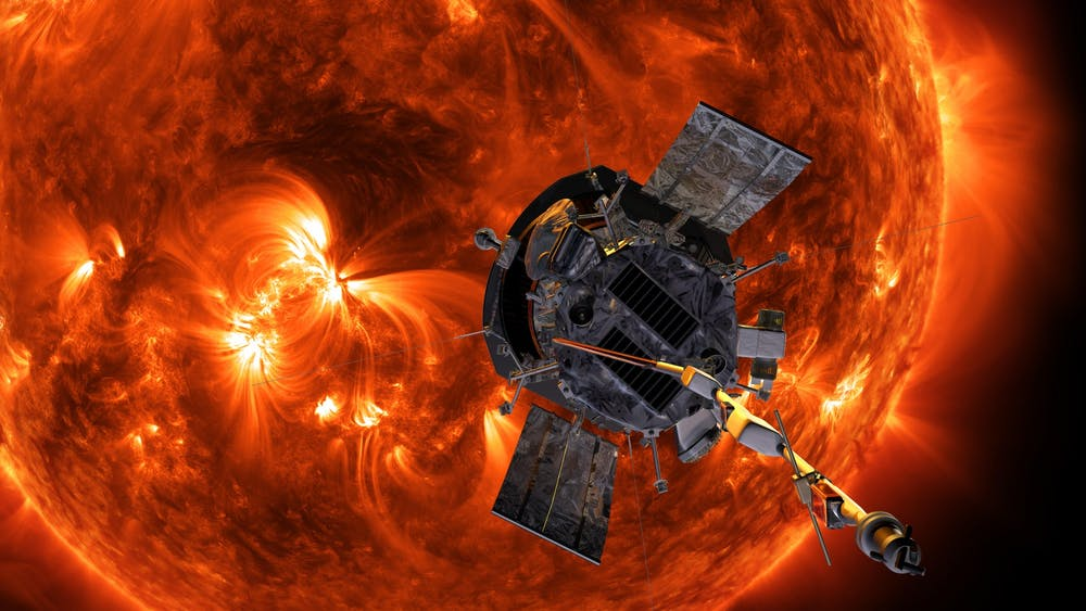 <p>Artist rendering of the Parker Solar Probe approaching the Sun.&nbsp;</p> <h6>Photo Credit: Steve Gribben / NASA, John Hopkins APL</h6>