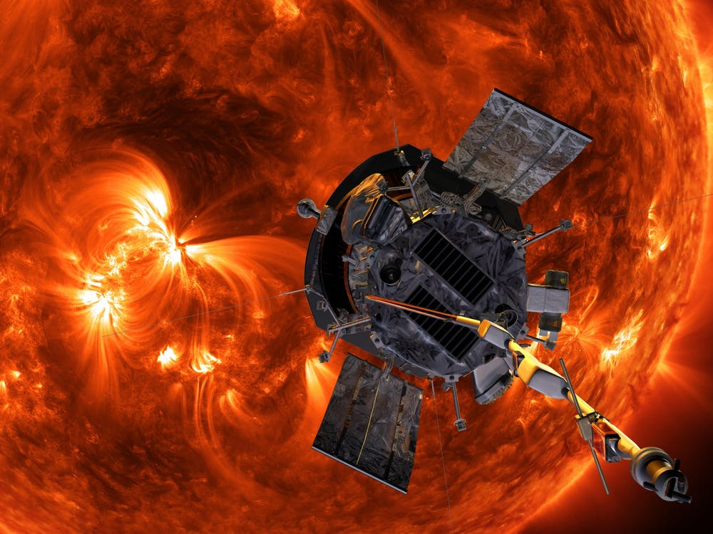 Artist rendering of the Parker Solar Probe approaching the Sun. Photo Credit: Steve Gribben / NASA, John Hopkins APL