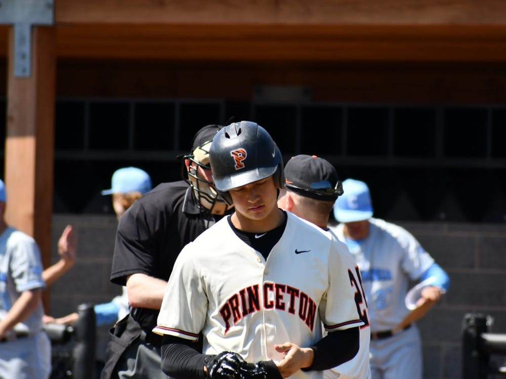 Photo Caption: Max West after striking out in game one of the Columbia series  Photo Credit: Mark Dodici, Sports Staff Writer / Daily Princetonian
