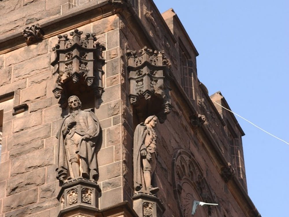 A view of carvings on East Pyne Hall, home to the German Studies Department at the University.