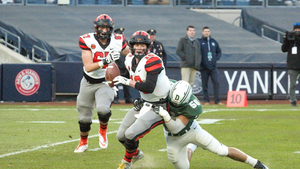 Kevin Davidson was sacked on Princeton's first play from scrimmage. Photo Credit: Jack Graham / The Daily Princetonian