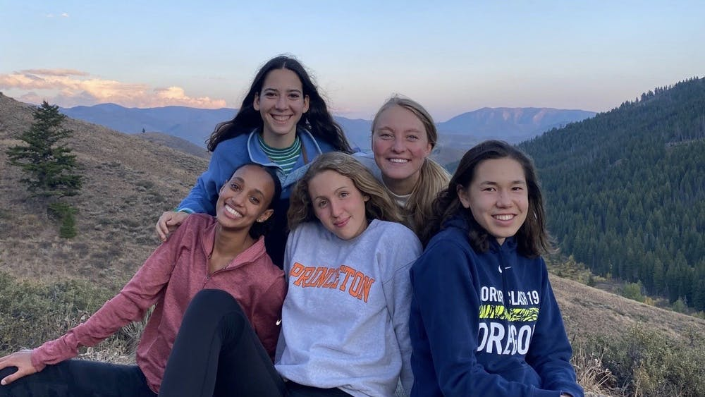 Tsion Yared and her '24 teammates in Bend, Oregon. From left to right: Yared, Luci Doogan, Madeleine Burns, Isabel Max, and Lucy Huelskamp. Courtesy of Tsion Yared