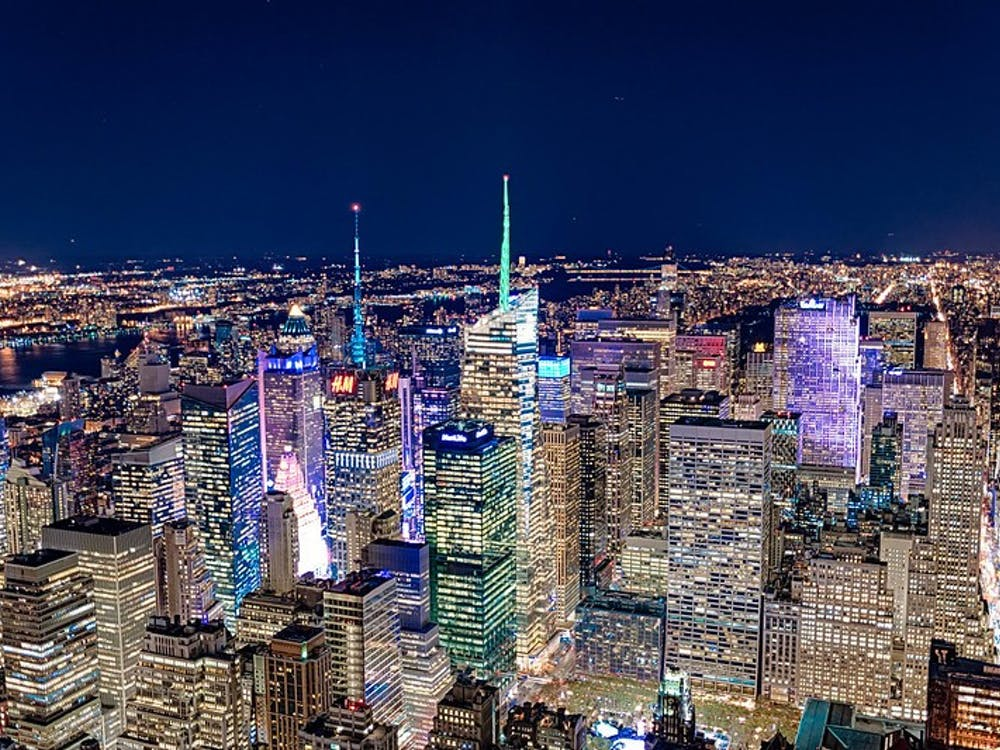 """New York City Skyline from Top of Empire State Building"" by Jody Claborn / Public Domain"