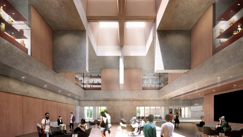 <p>Traditional materials will be used in the new building, as seen in this rendering of the museum's planned Grand Hall.</p> <h6><strong>Courtesy of Adjaye Associates</strong></h6>