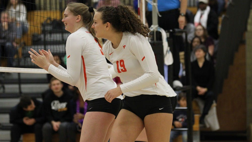 <p>Elena Montgomery led Princeton in kills this weekend&nbsp;</p> <h6>Photo Credit: Beverly Schaefer / goprincetontigers.com</h6>