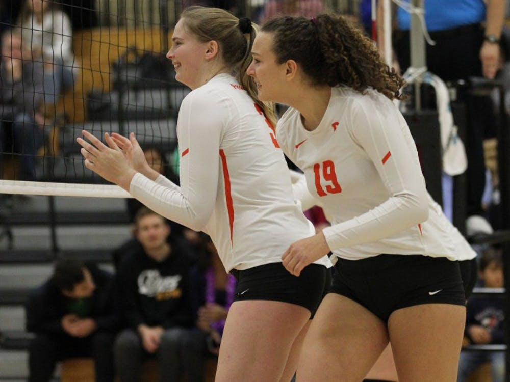 Elena Montgomery led Princeton in kills this weekend Photo Credit: Beverly Schaefer / goprincetontigers.com